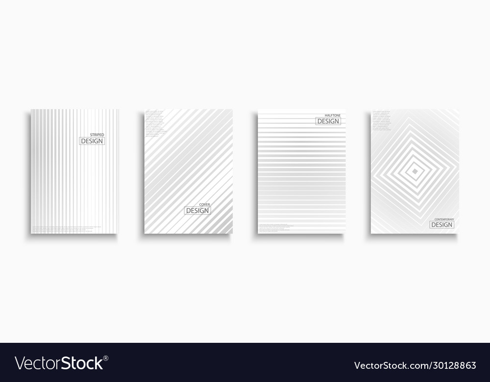Halftone striped white and gray contemporary