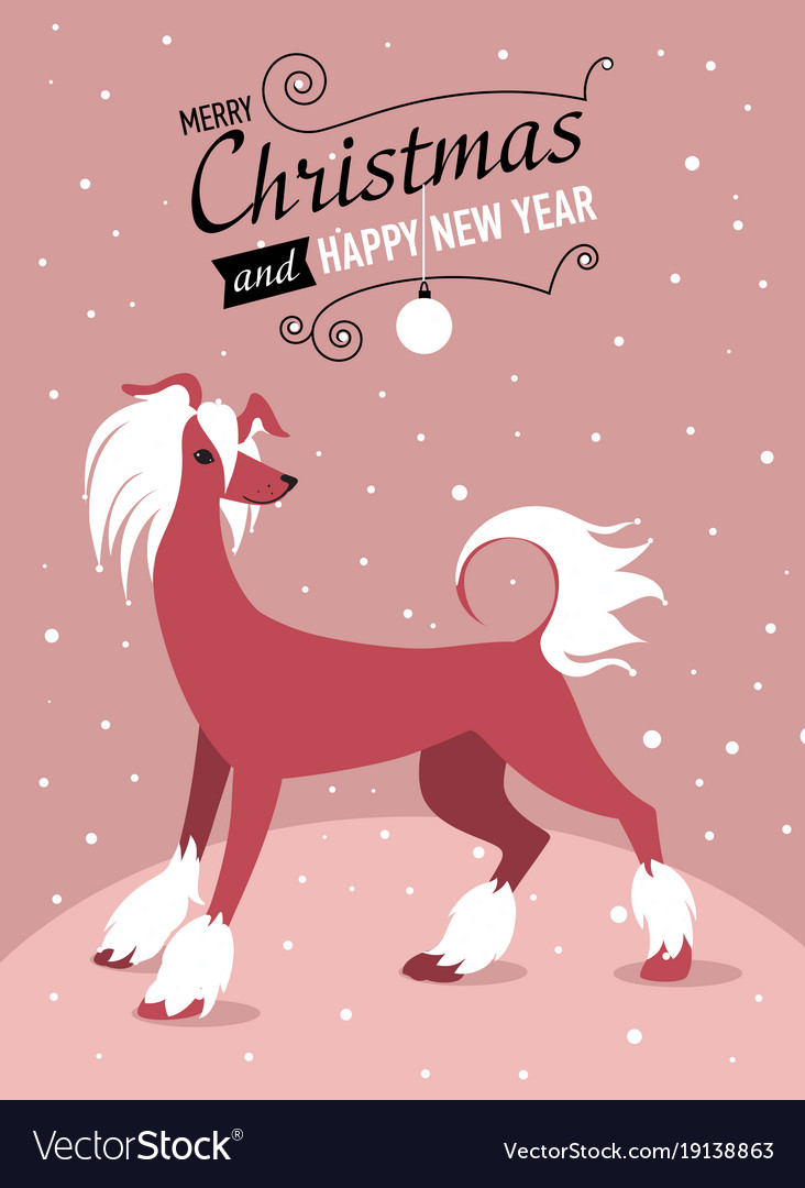 Happy chinese new year 2018 card with gold dog