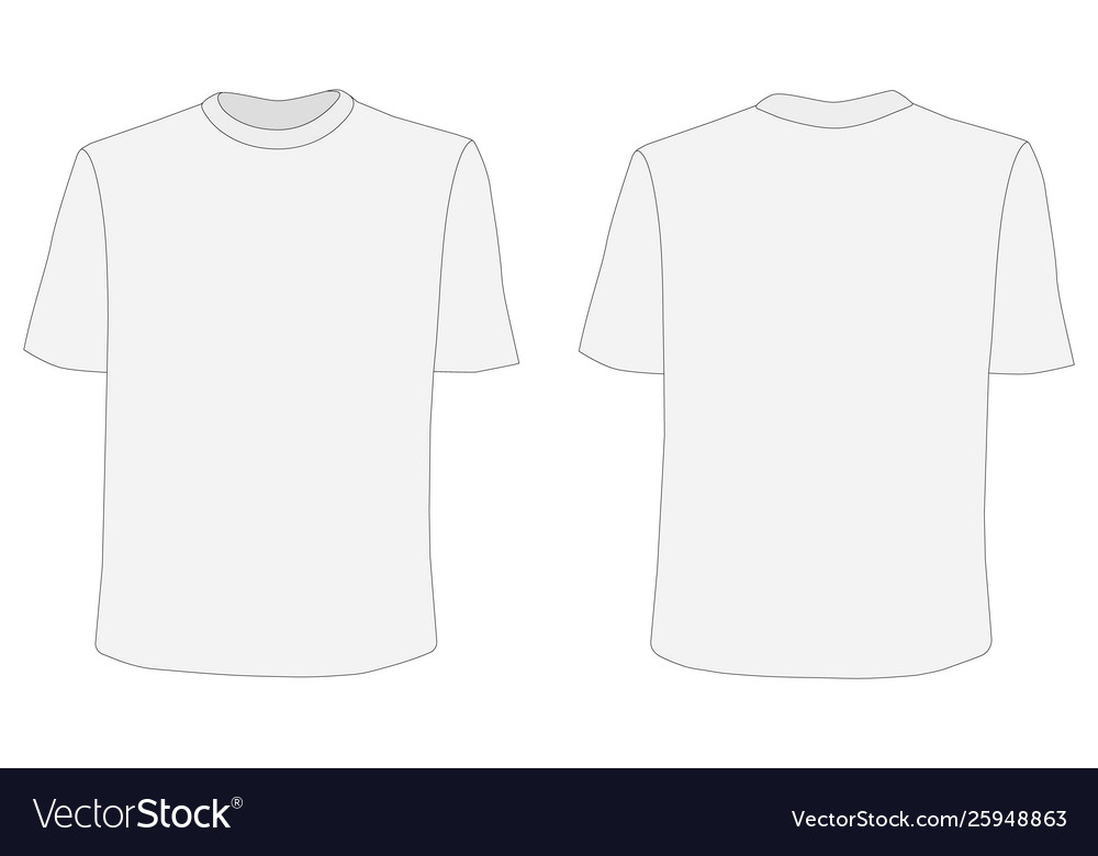 T Shirt Mockup Front And Back Sides Royalty Free Vector