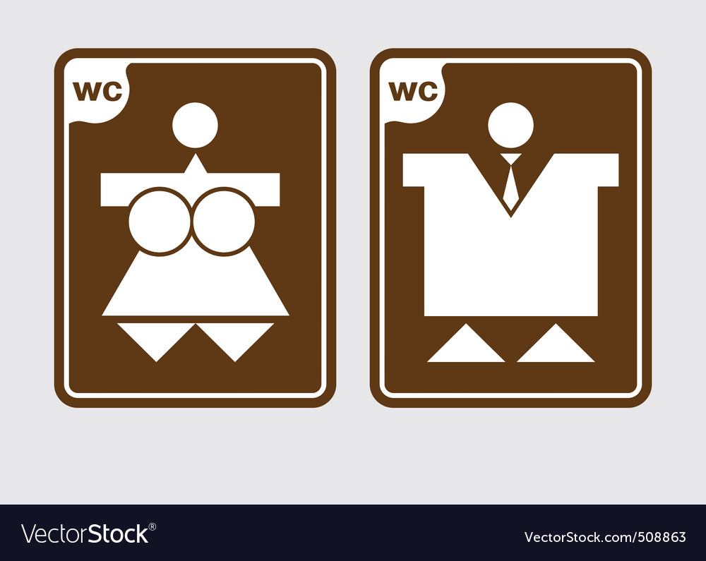 Toilet symbols wc vector image