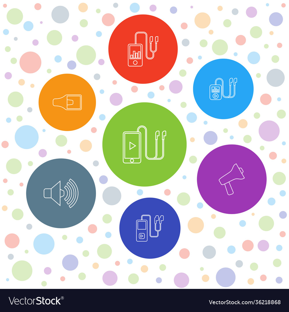 7 mp3 icons