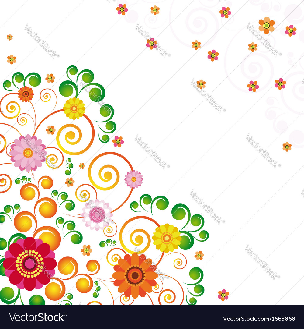 Abstract flowers background with place for your
