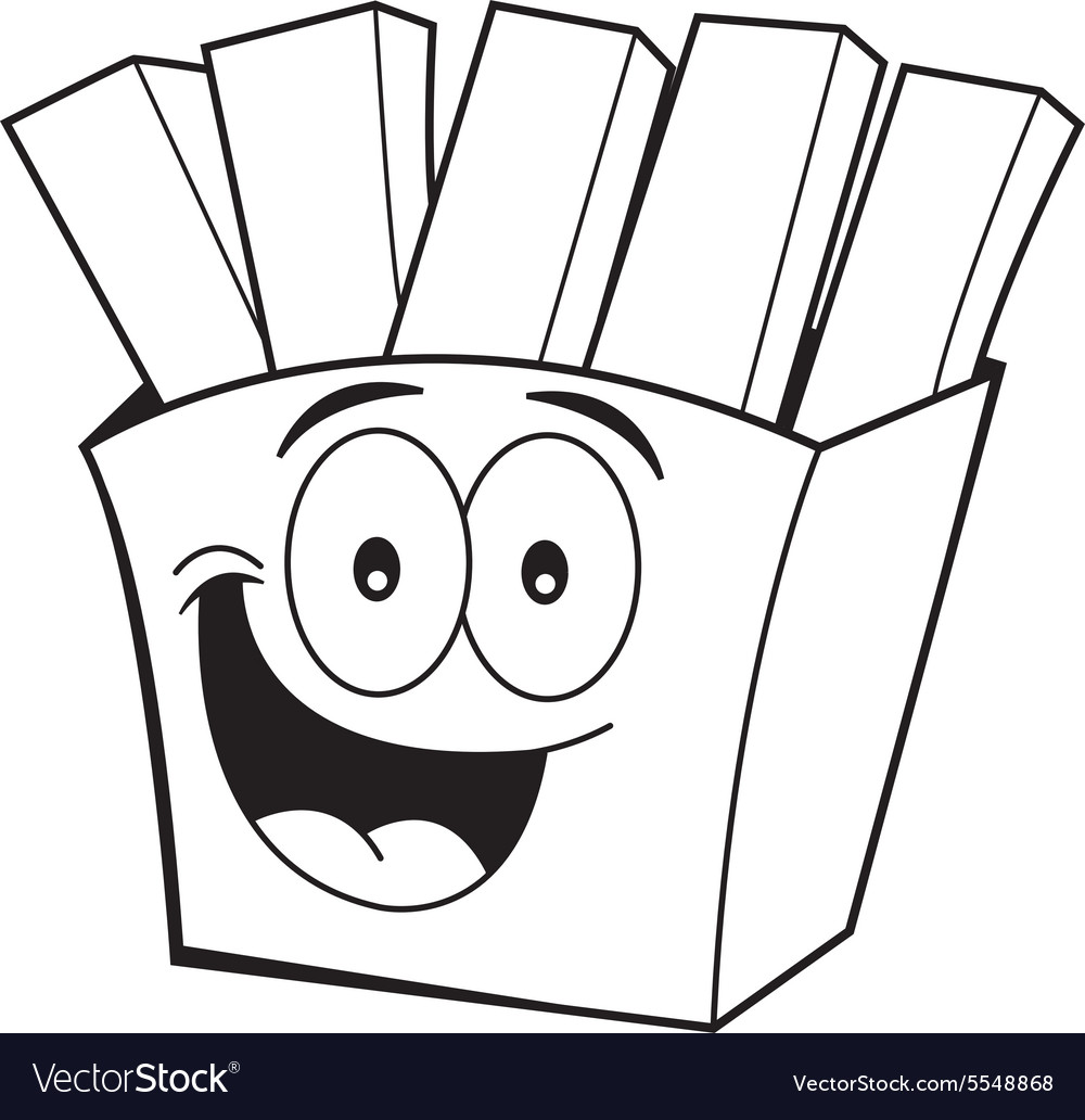 Cartoon French Fries Royalty Free Vector Image
