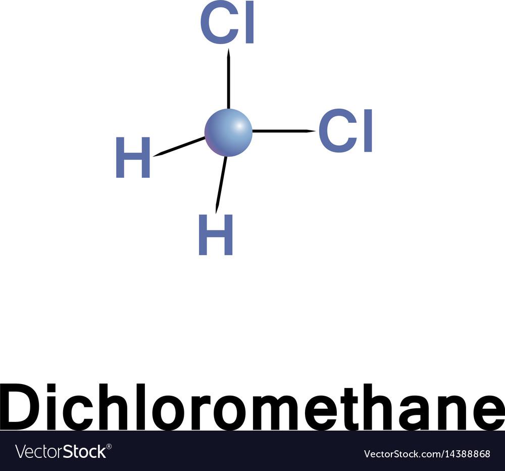 dichloromethane methylene chloride royalty free vector image