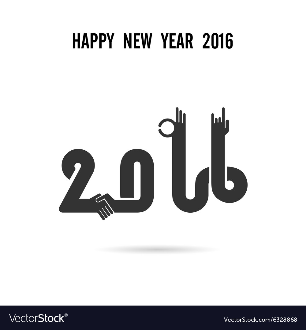Happy New Year 2016colorful greeting card design