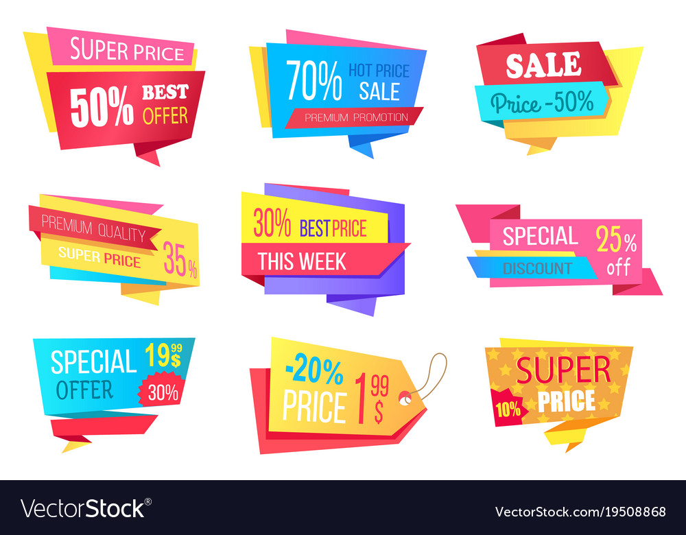 Lot of super price 50 off best discount banners