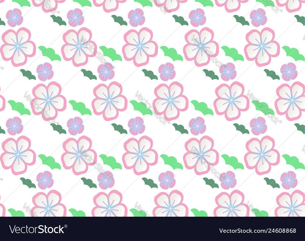Set of seamless pattern traditional japan