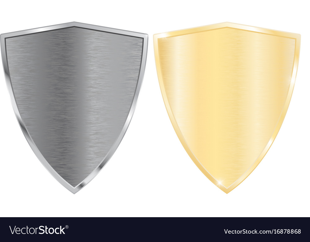 Silver and golden shields