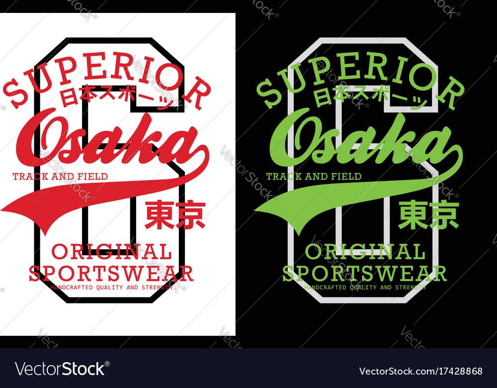 Superior osaka t-shirt graphic