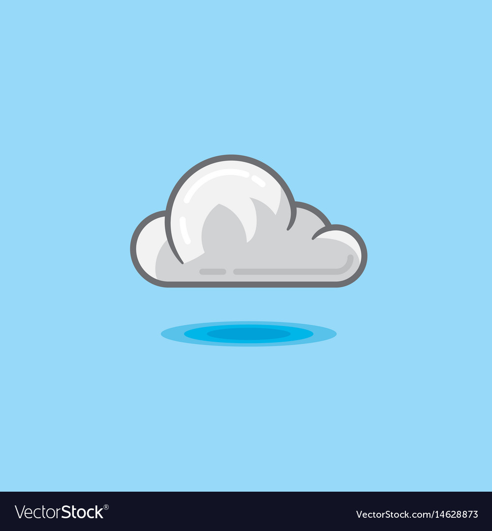 Cloud in sky on a light blue vector image