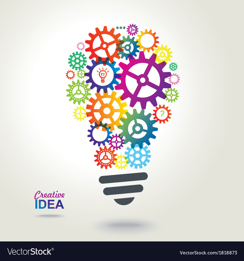 Creative conceptual background Idea vector image