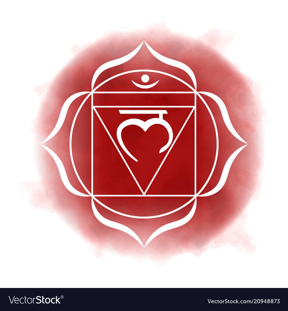 First Root Chakra Muladhara Royalty Free Vector Image