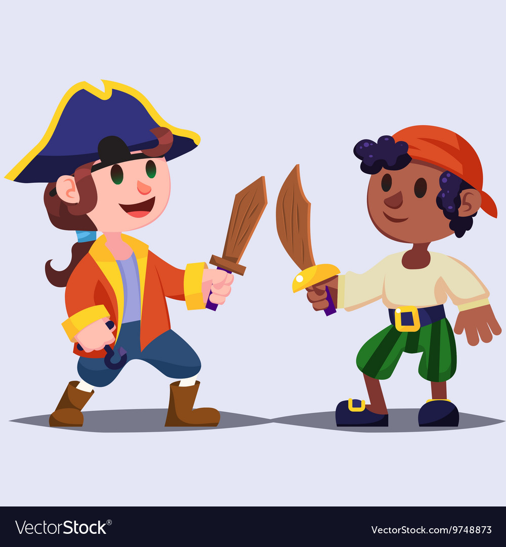 Funny Cartoon Images Of Boys funny cute cartoon boys pirates kids with wooden