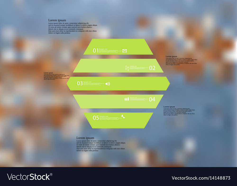 Infographic template with hexagon horizontally