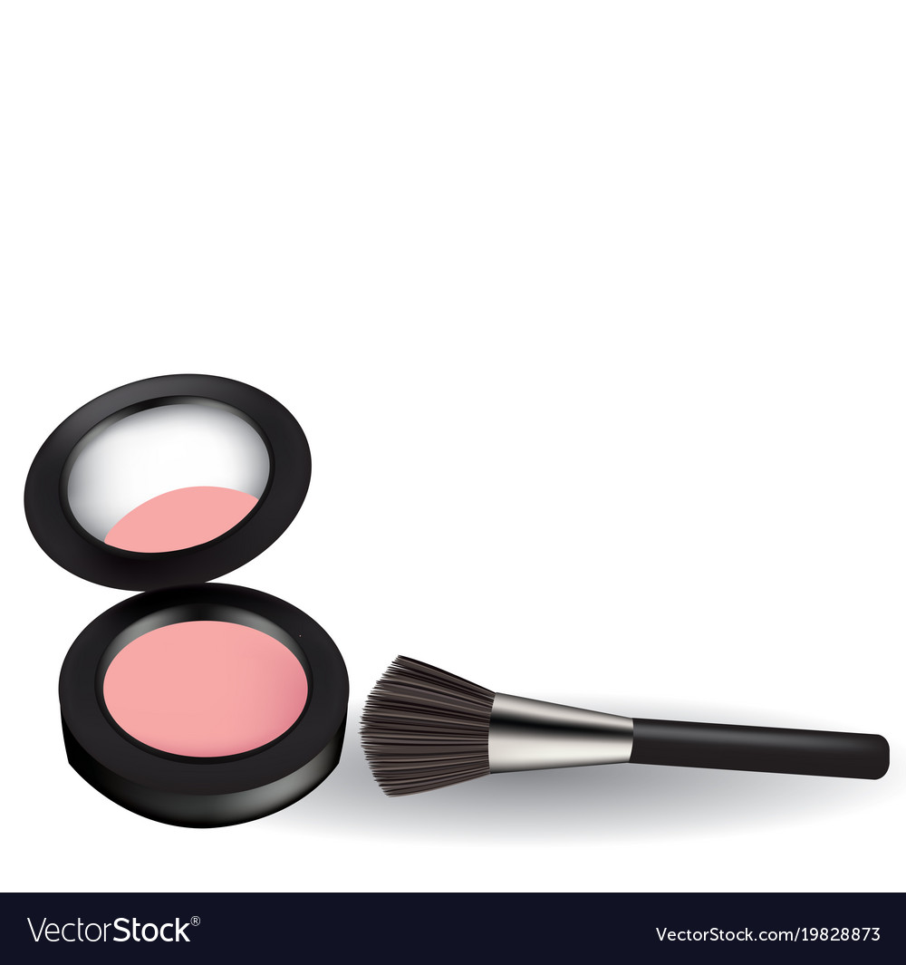 Pink Blush With Brush Royalty Free Vector Image