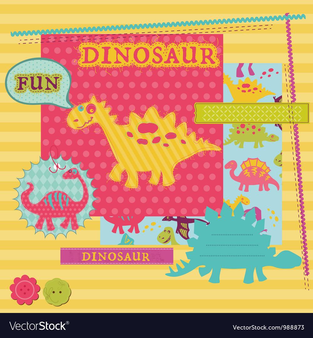 Scrapbook Design Elements - Baby Dinosaur Set