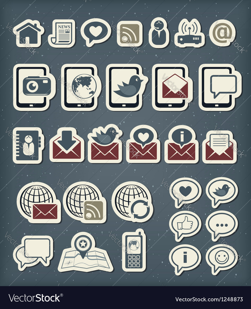 Web communication icons