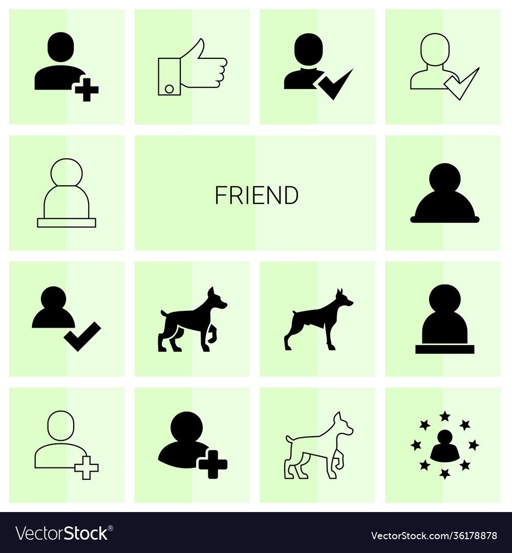14 friend icons
