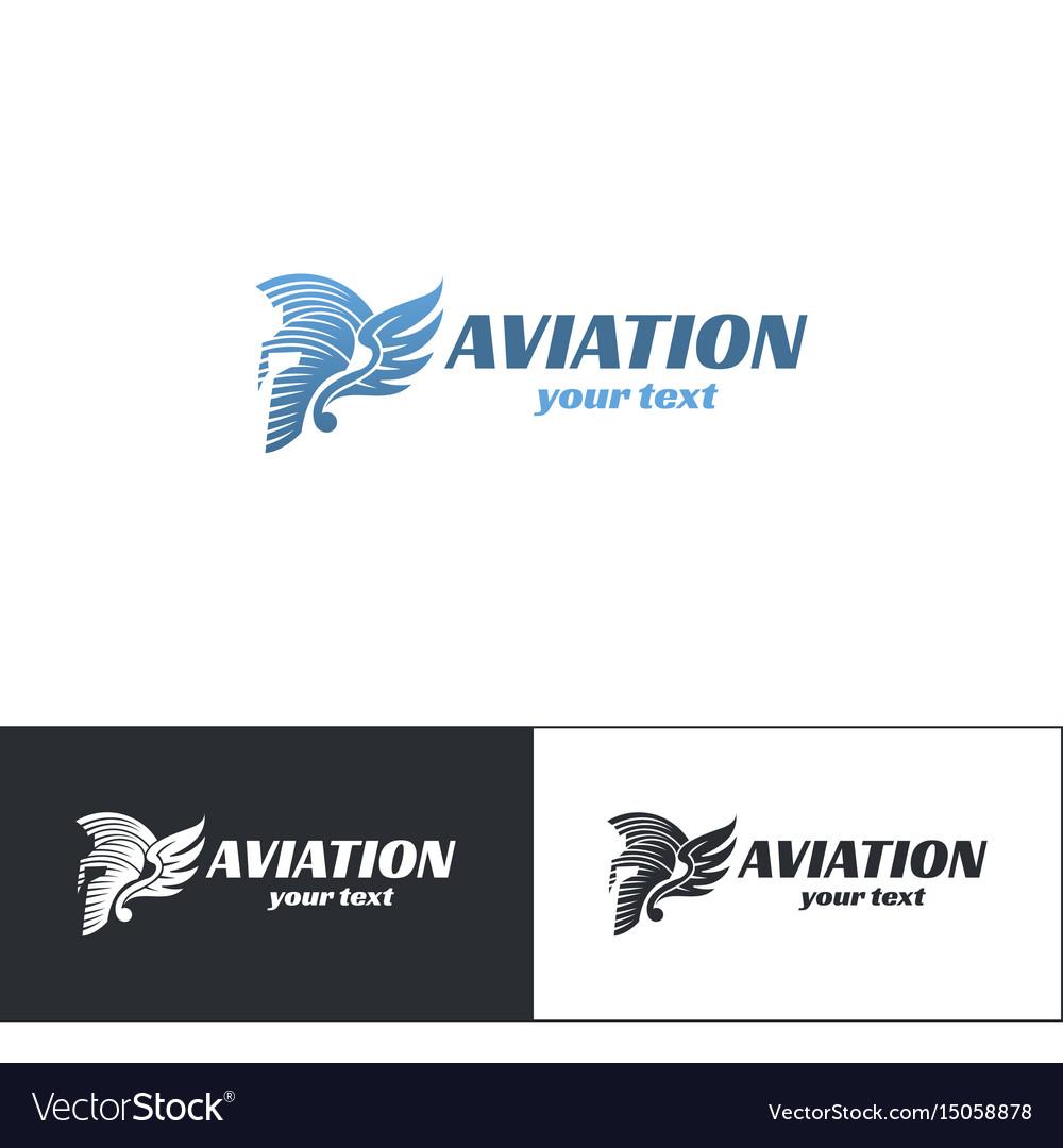 Aviation logo design five vector image