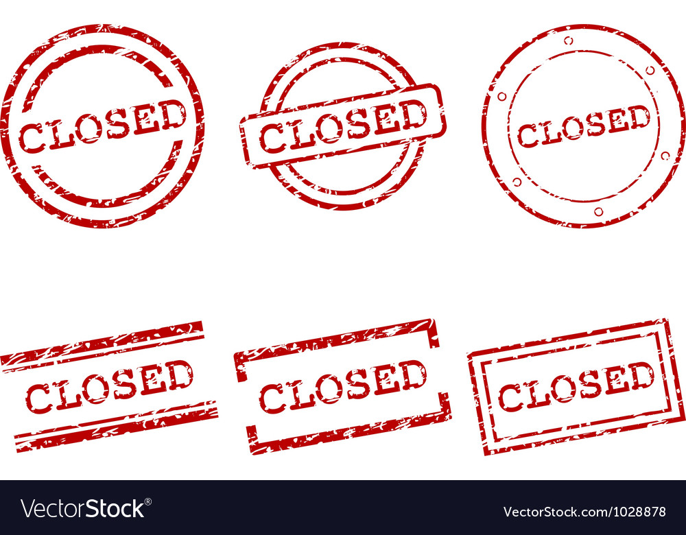 Closed stamps vector image