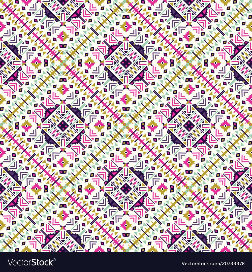 Ethnic seamless pattern aztec geometric