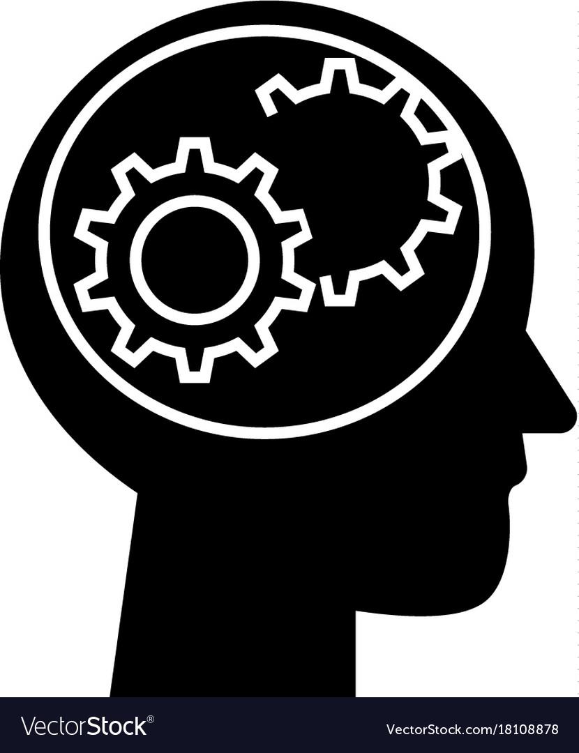 Human head - settings icon