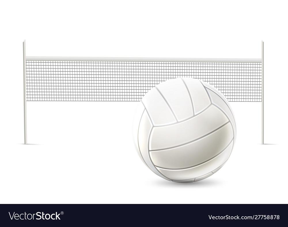Realistic beach volley net white mockup