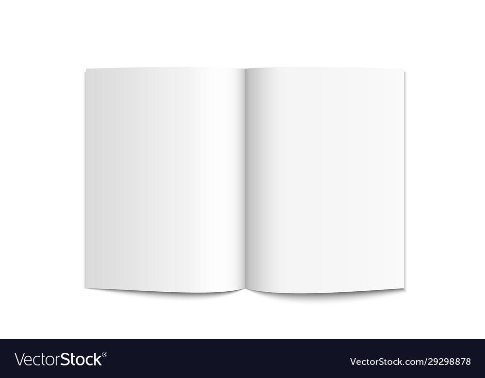 Realistic blank white magazine