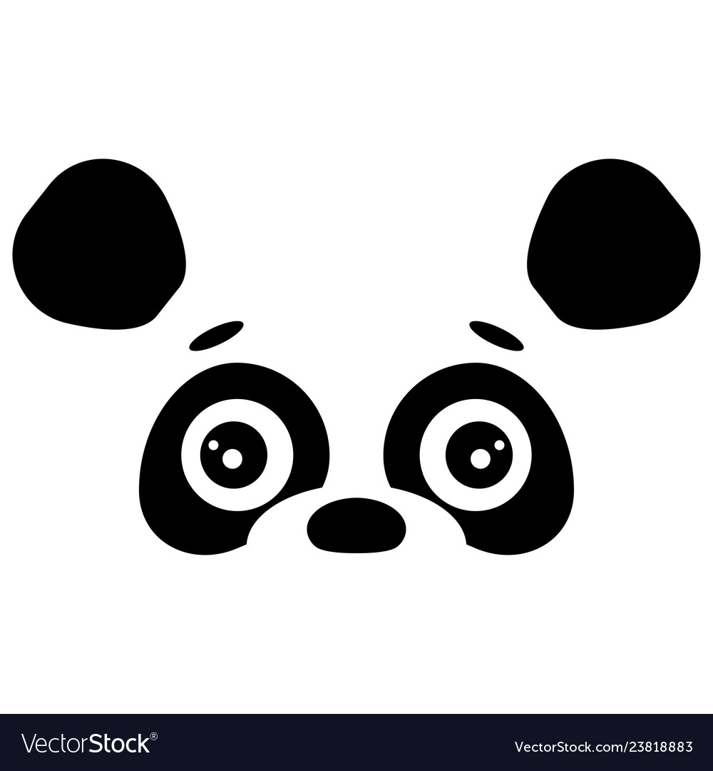 Abstract face of cute panda design template