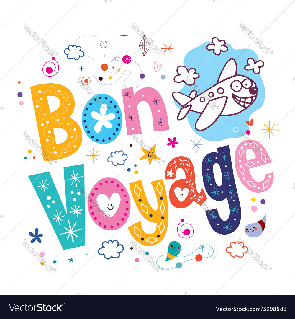 Bon Voyage Royalty Free Vector Image - VectorStock