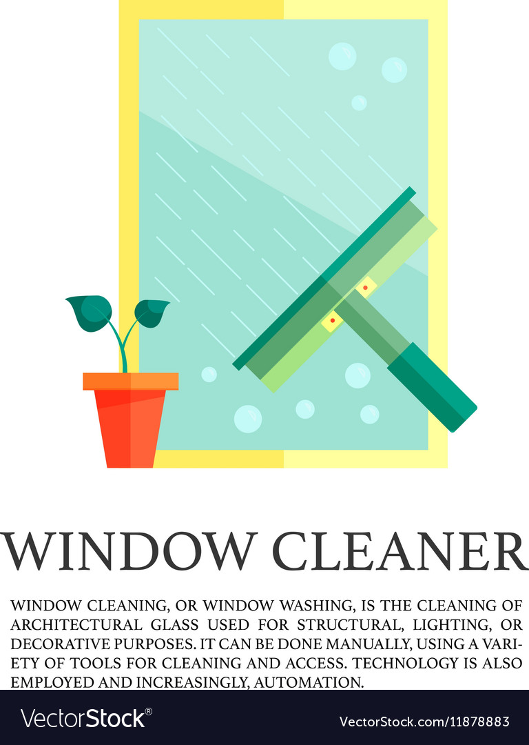 Flat windows cleaner concept