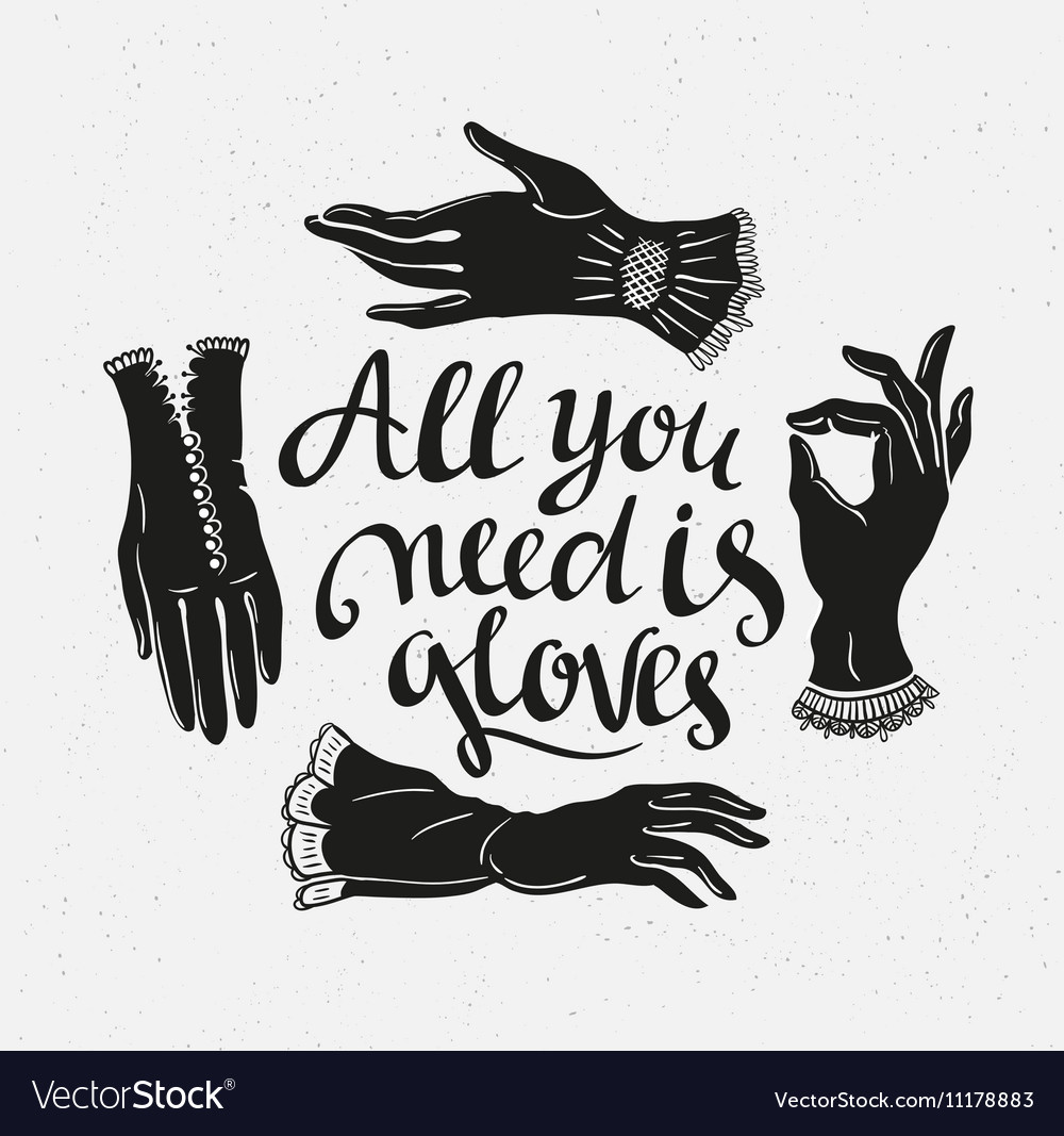 Funny poster with stylish lettering All you need