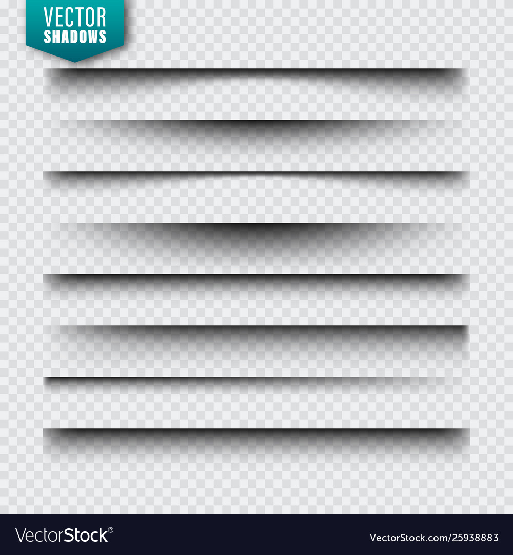 Shadows set page dividers on transparent