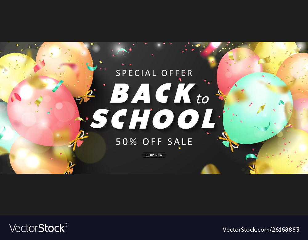 Special offer back to school sale advertising