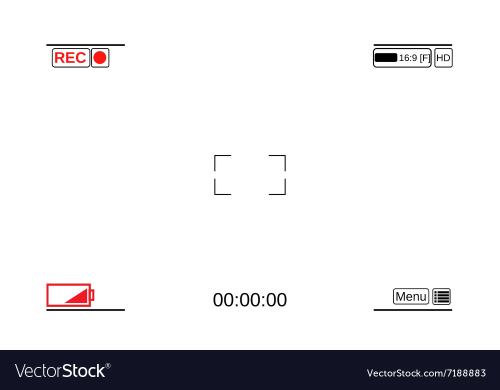 template focusing screen of the camera royalty free vector