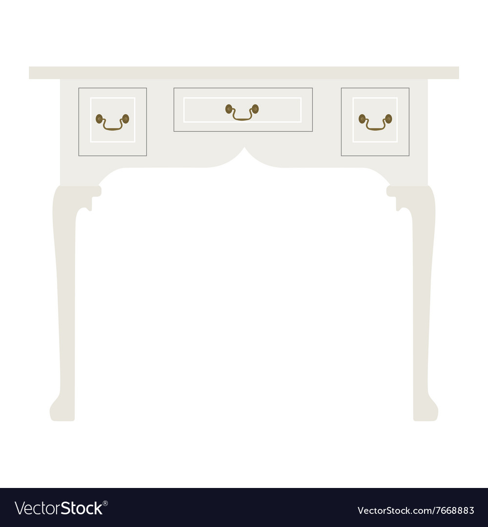 White Table Royalty Free Vector Image