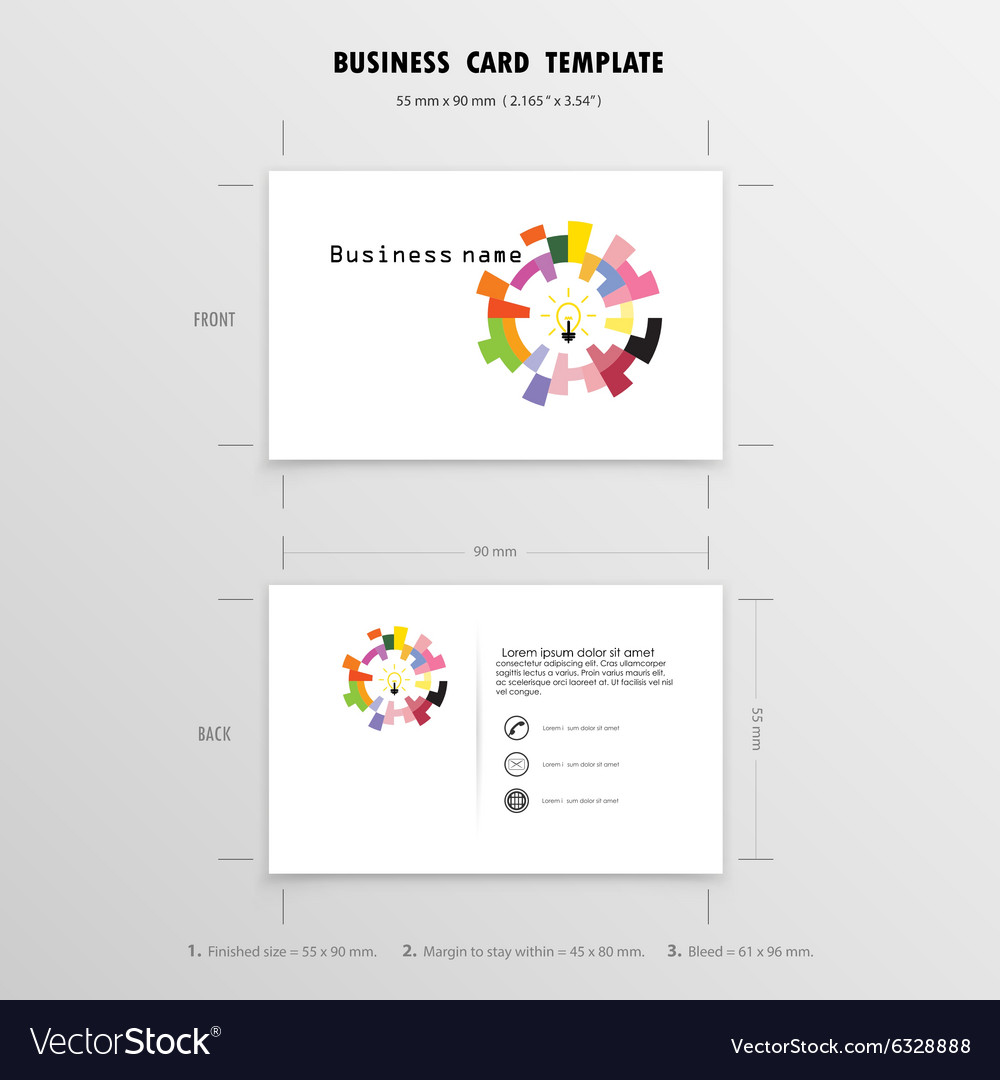 Abstract Creative Business Cards Design Template