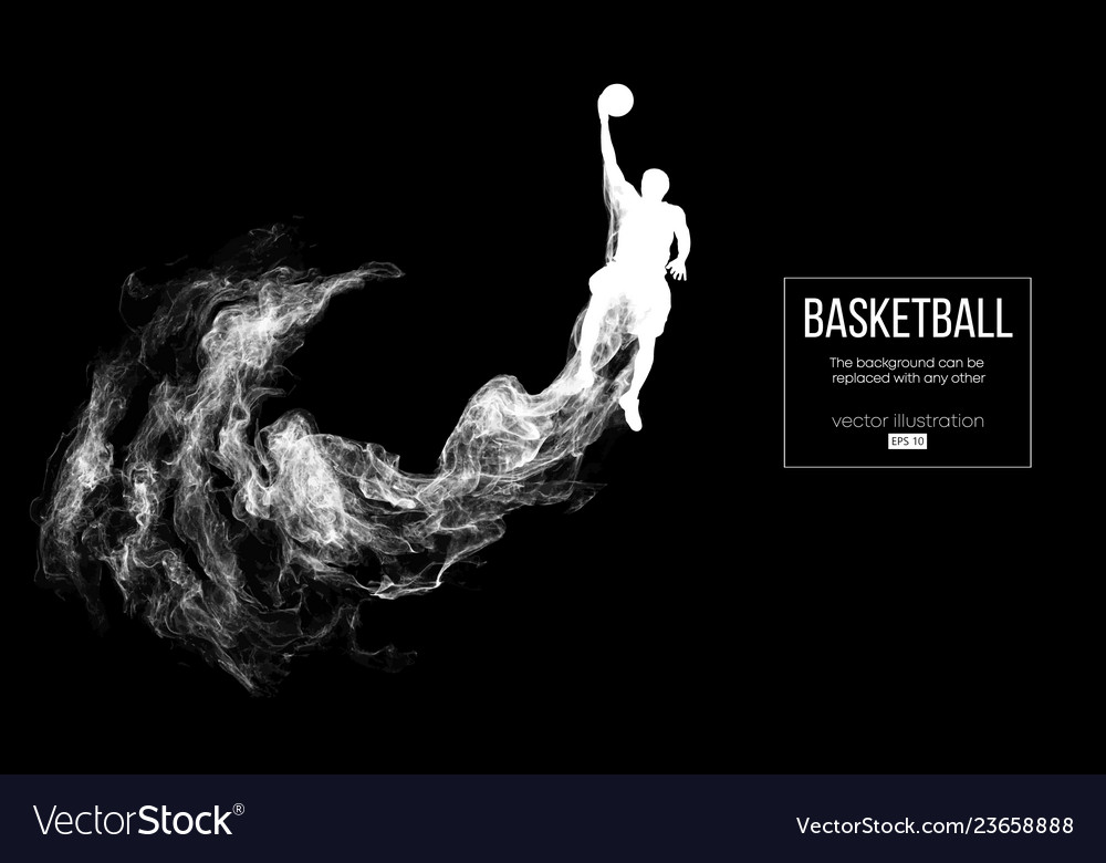 Abstract silhouette of a basketball player