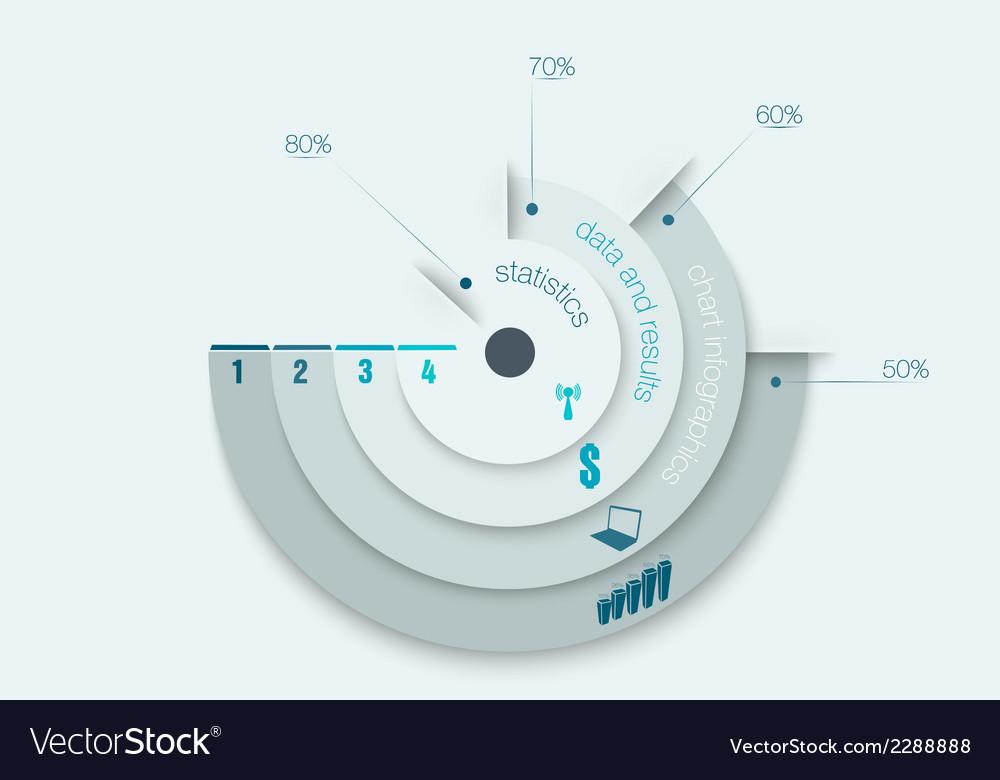Chart infographics vector image