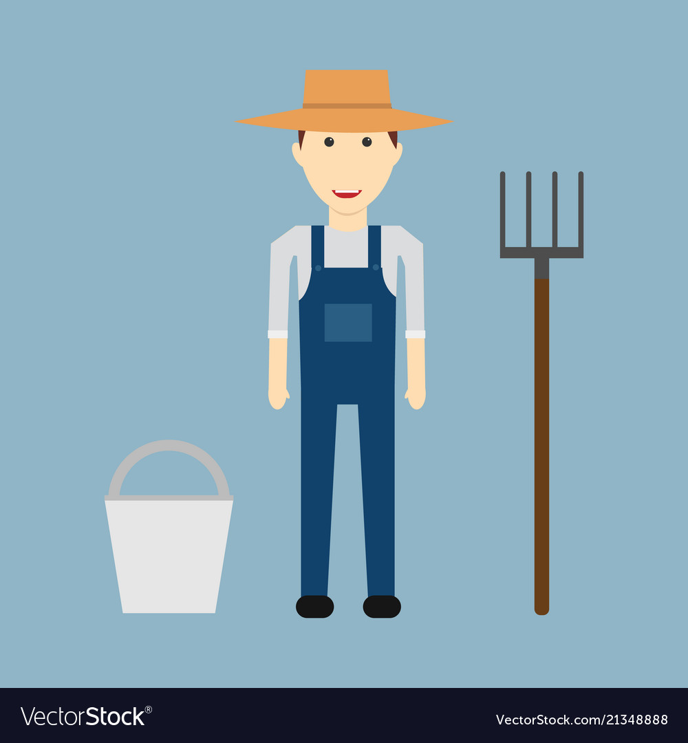 Farmer man character constructor and objectfunny