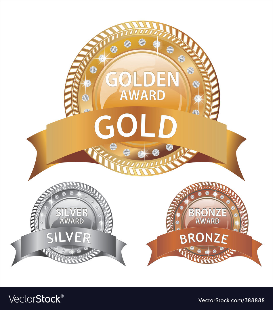 Gold silver and bronze awards