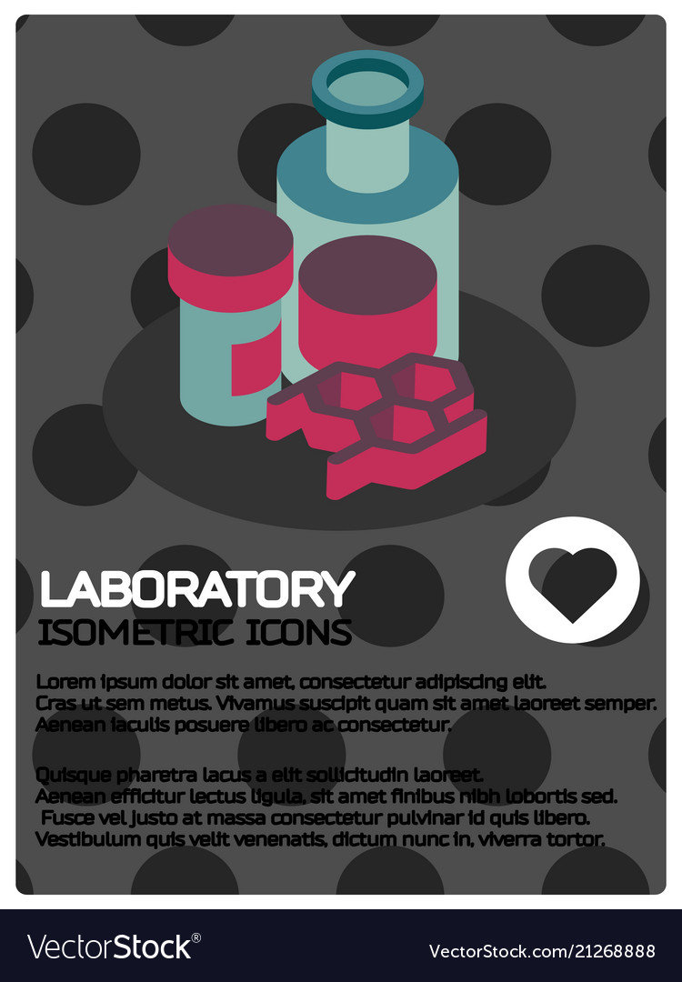 Laboratory color isometric poster