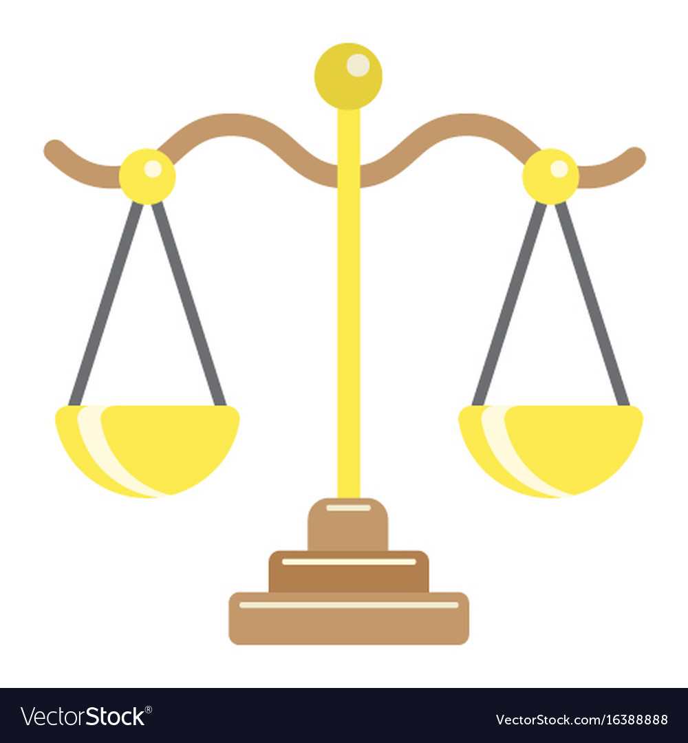 Libra flat icon business and finance scale sign vector image
