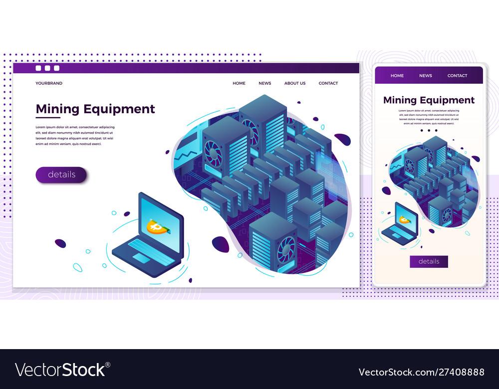 Online web crypto mining equipment set