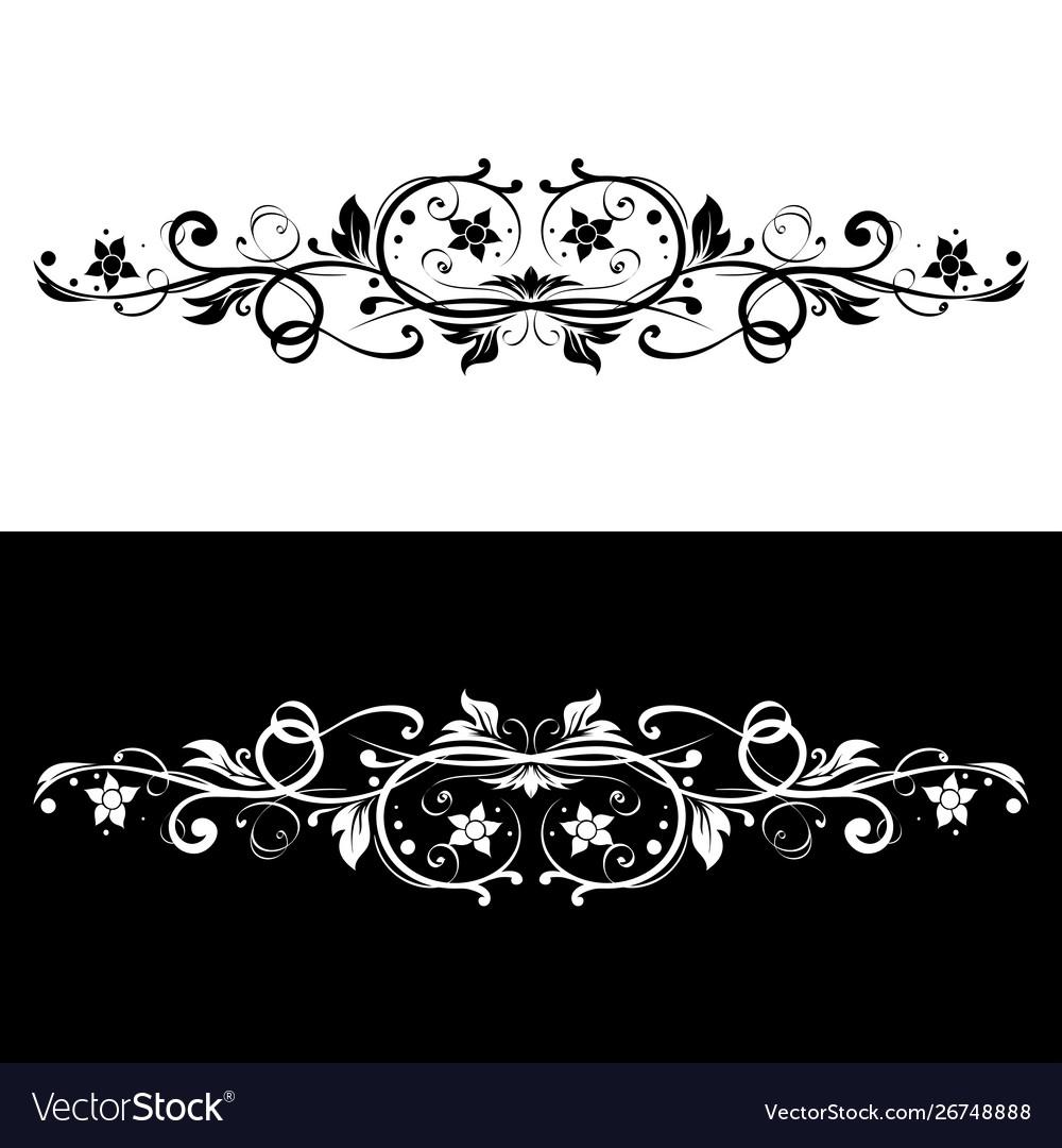 Ornamental dividers black and white decorative