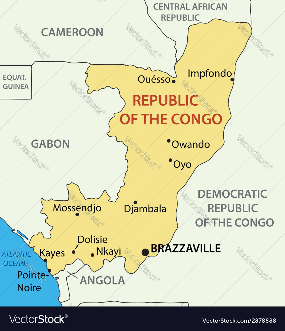 Picture of: Republic Of The Congo Map Royalty Free Vector Image