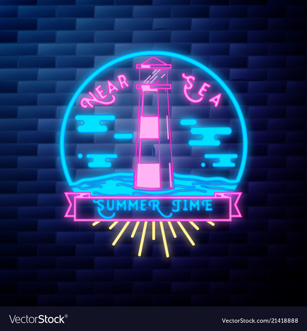 Vintage summer season emblem
