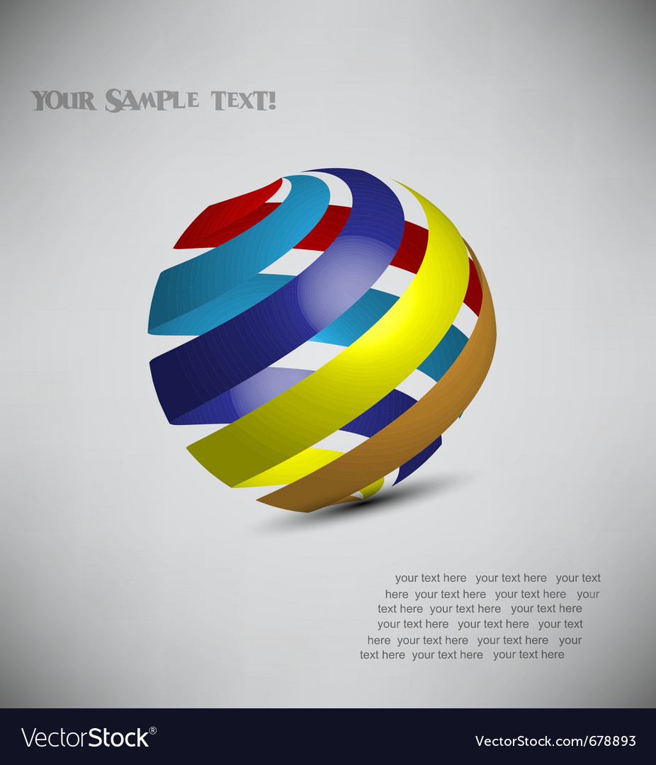3d model of a sphere vector image