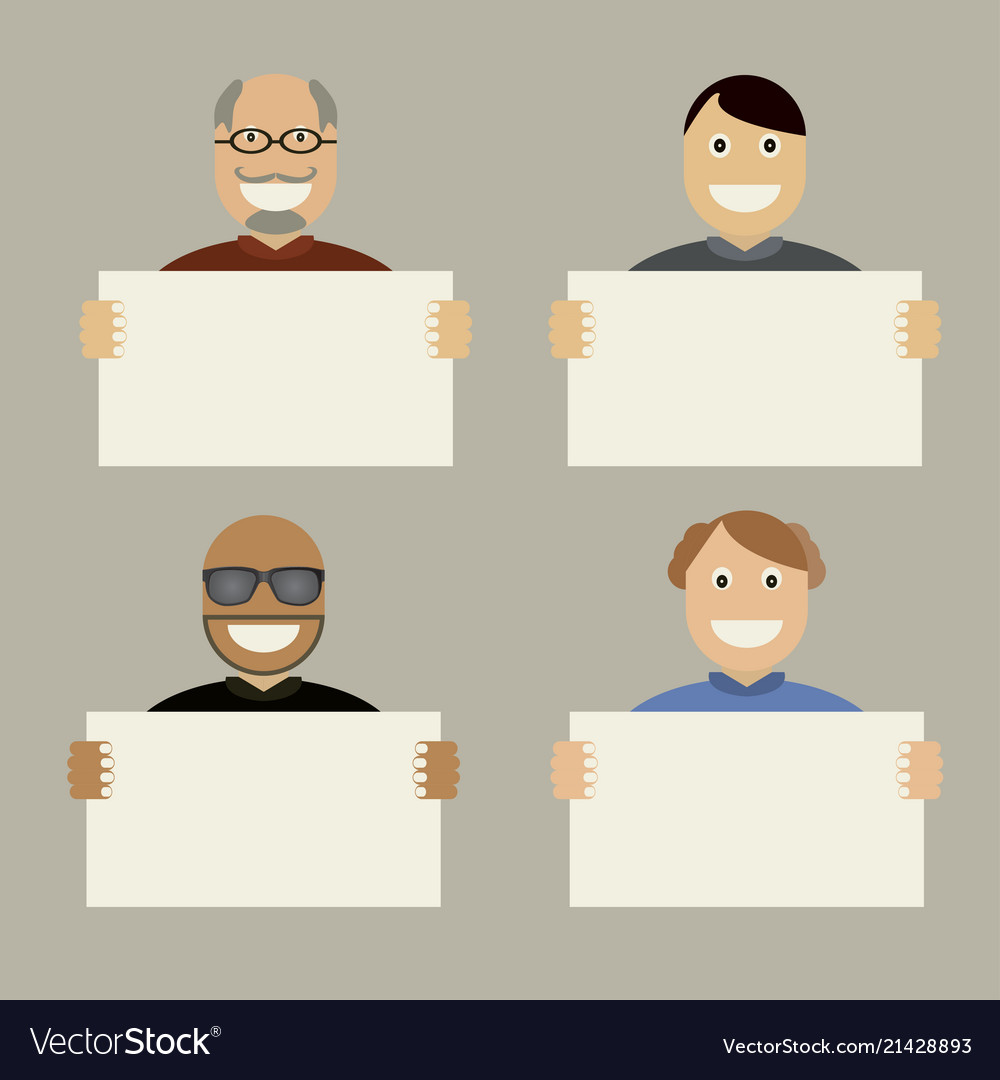 Characters with white card board