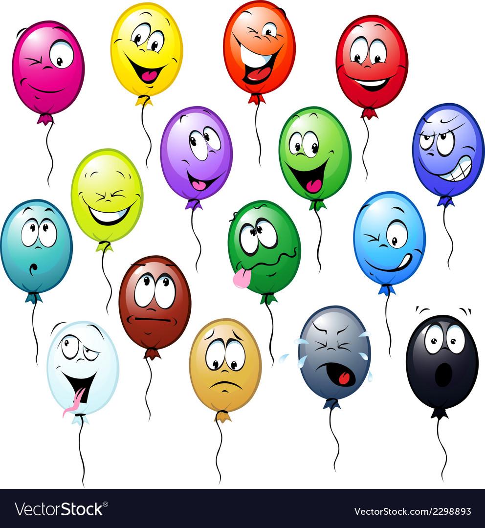Colorful balloons cartoon